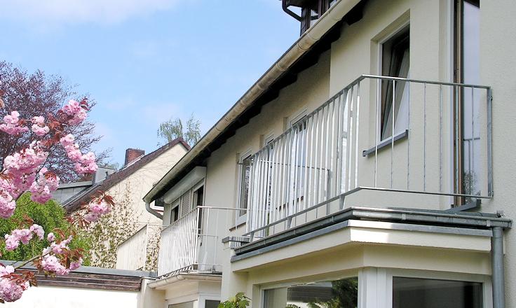 Ansicht Balkon, Übergang zum nicht gedämmten Teil