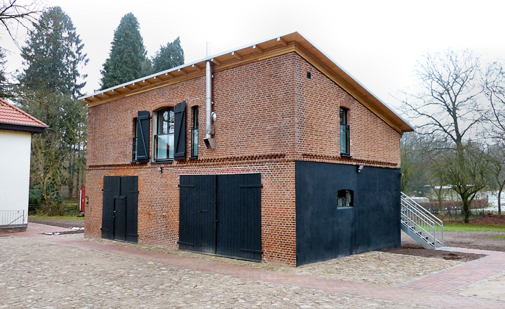 Ansicht von der Hofseite nach dem Umbau (Hofgestaltung Ing.-Büro Biethahn und Partner)