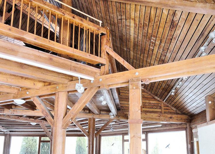 Ansicht des Innenraumes vor Beginn des ersten Bauabschnittes