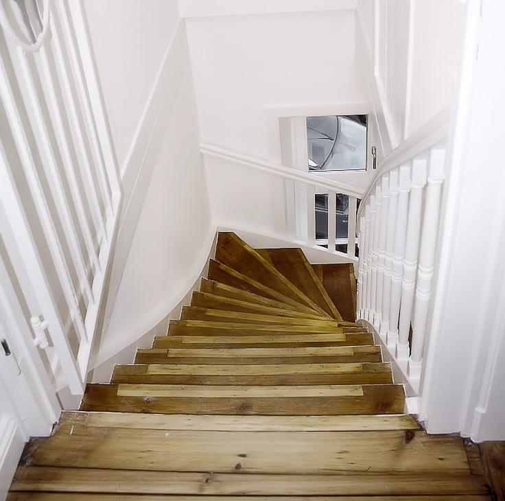 Aufgearbeitete Treppe