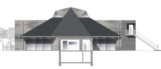 Umbau, energetische Sanierung und brandschutztechnische Ertüchtigung eines Ausstellungs- und Verkaufsgebäudes