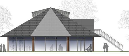 EWT 3.BA – Energetische Sanierung, brandschutztechnische Ertüchtigung und Umbau eines Pavillons zu einer Indoorspielanlage