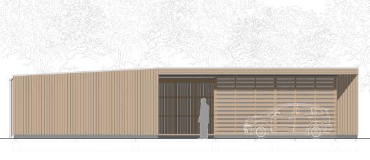 Neubau eines Betriebsgebäudes für eine Försterei