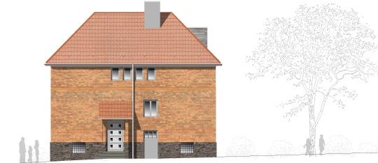 Grundinstandsetzung, Umbau und energetische Sanierung einer Backsteinvilla